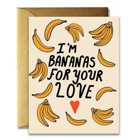 Native Bear Bananas For Your Love Card