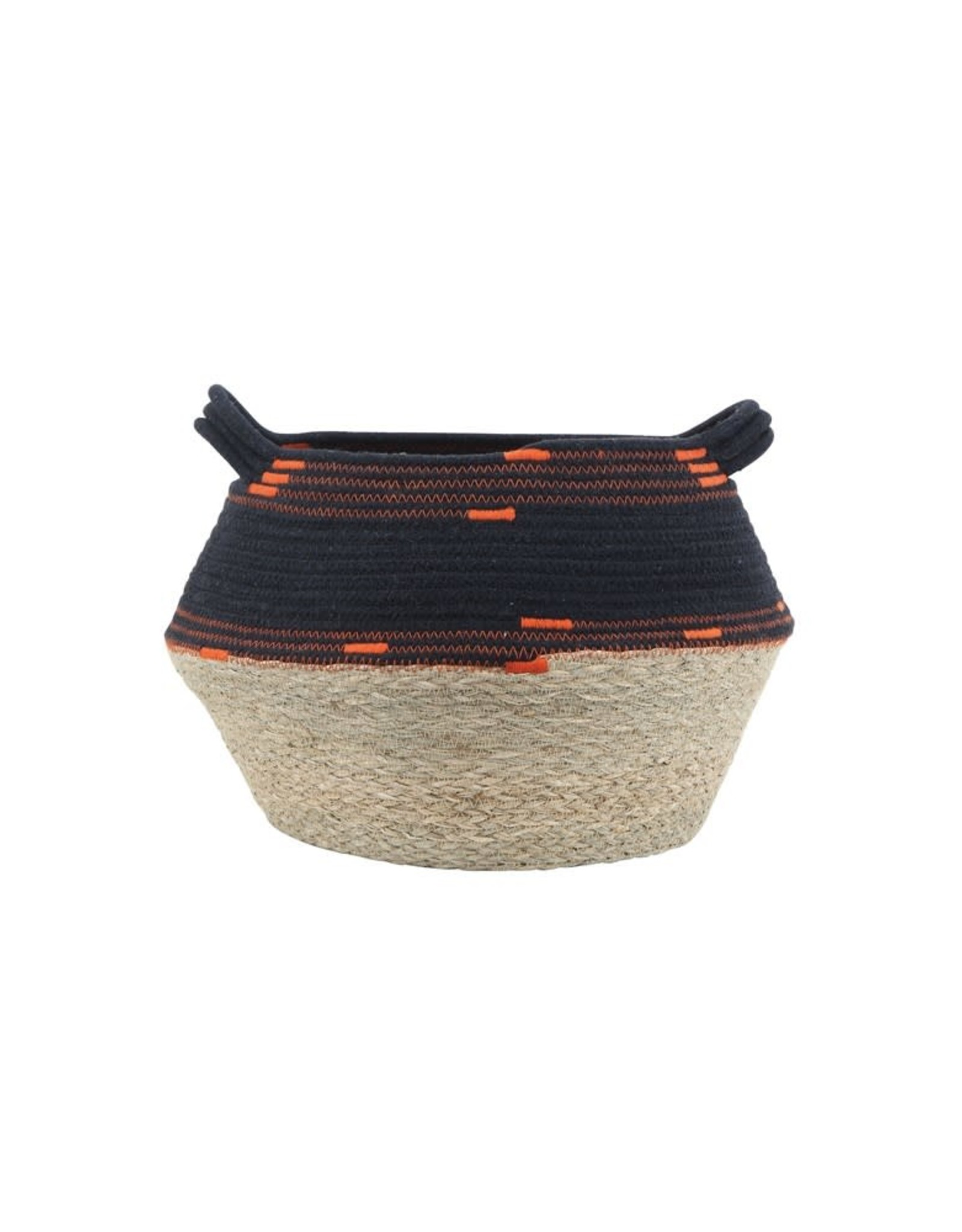 Creative Co-Op Seagrass + Rope Basket