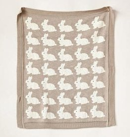 Bunny Knit Baby Blanket