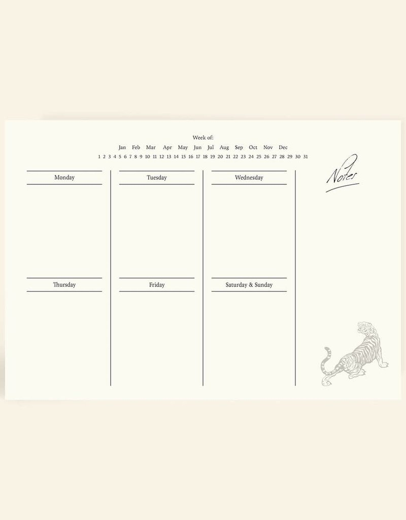 Cai & Jo Cai & Jo   Weekly Planner Notepad