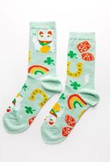Yellow Owl Workshop Yellow Owl Workshop | Lucky Cat & Clover Socks (W)