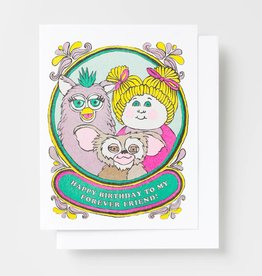 Yellow Owl Workshop Happy Bday Forever Friend Risograph Card