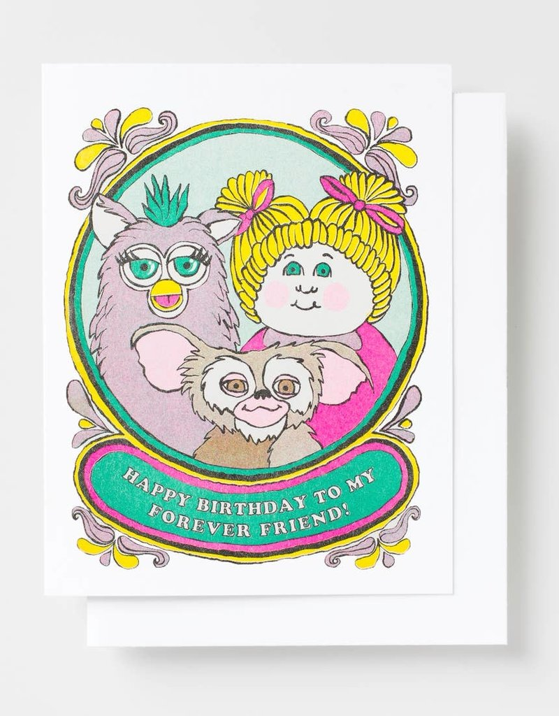 Yellow Owl Workshop Yellow Owl Workshop |Happy Bday Forever Friend Risograph Card