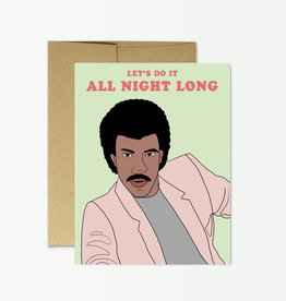 Party Mountain Paper Co Lionel Richie All Night Long
