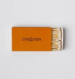 Brooklyn Candle Studio Orange Congrats Matches