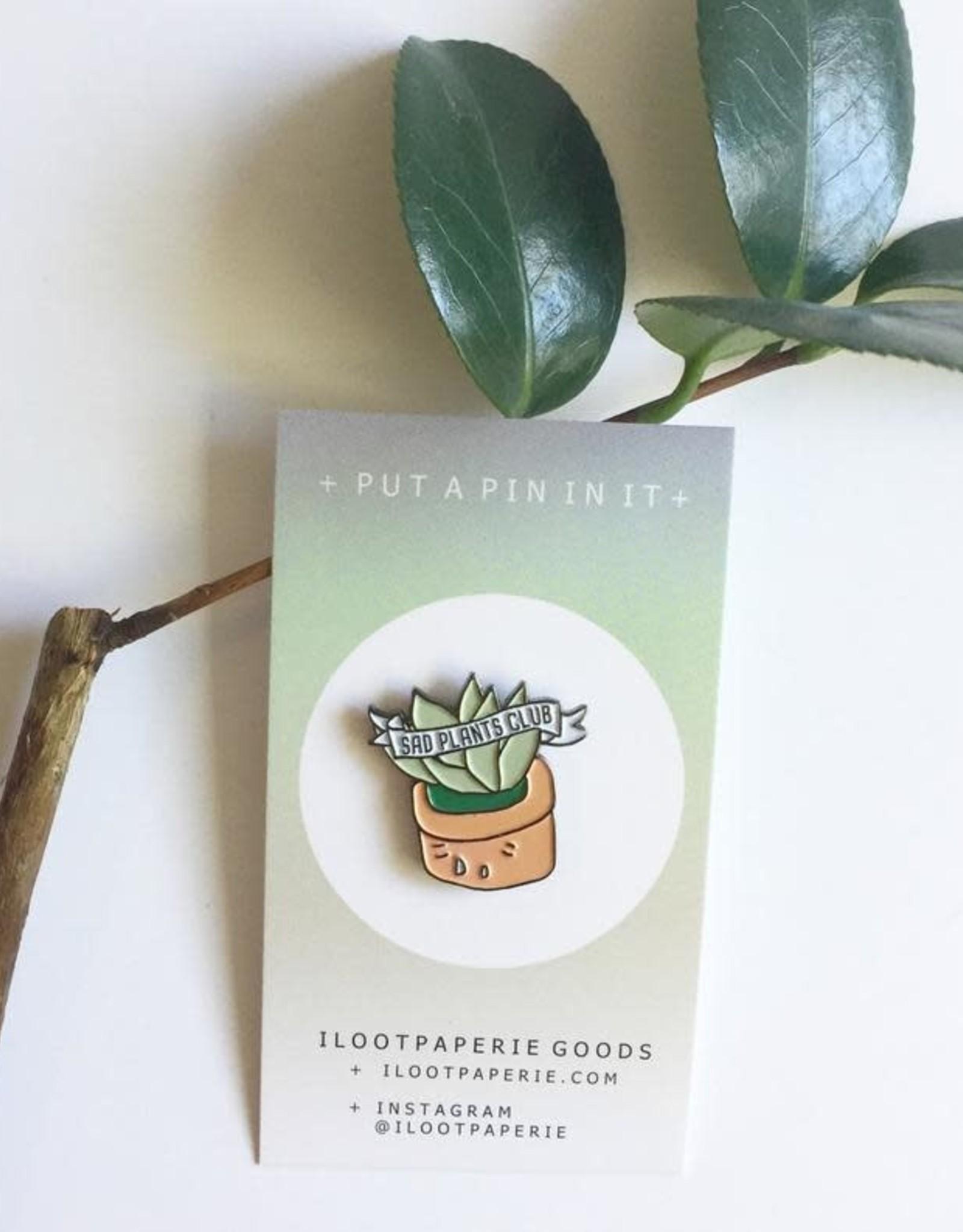 ilootpaperie ilootpaperie  Sad Plants Club Pin