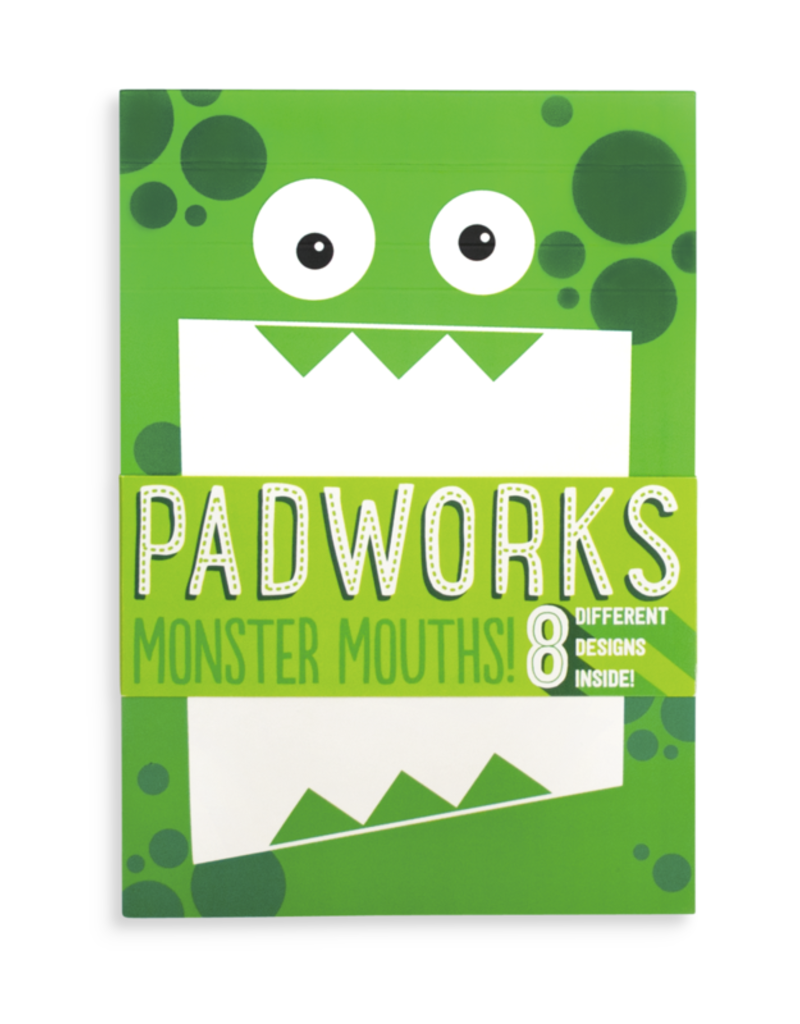 Ooly Ooly  Padworks Notepad - Monster Mouths