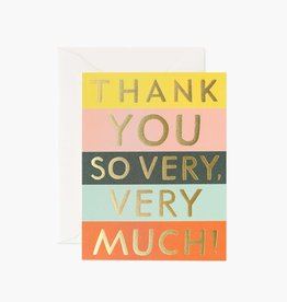 Rifle Paper Co. Rifle Paper| Color Block Thank You Boxed Set