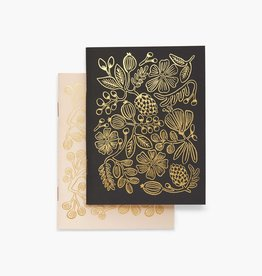 Rifle Paper Co. Rifle Paper| Gold Foil Pocket Notebooks (set of 2)