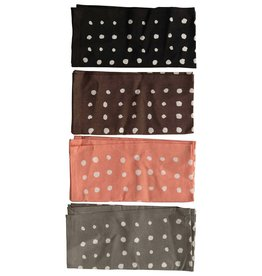 Creative Co-Op Cotton Polka Dot Napkins - Set of 4