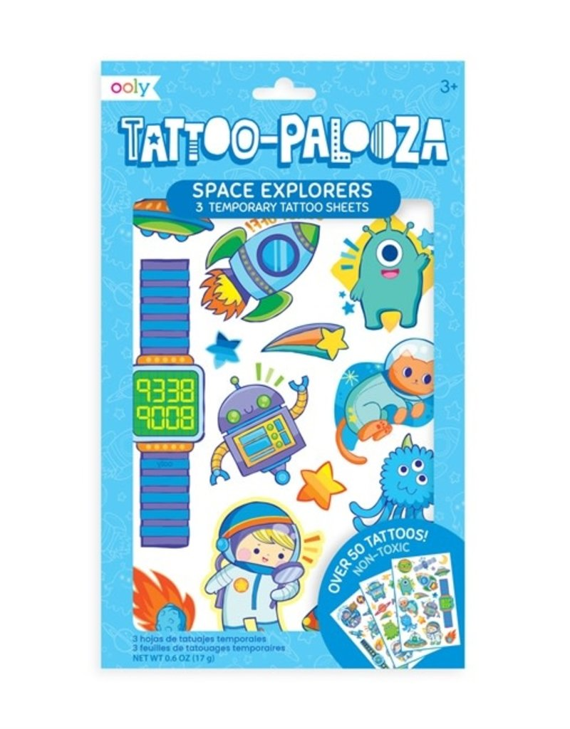 Ooly Ooly   Temporary Tattoos: Space Explorers