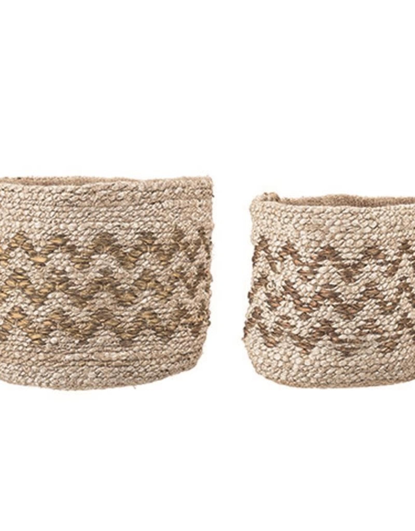 Bloomingville Zig or Zag Jute Storage Baskets (Set of 2)