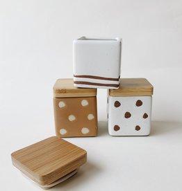 Creative Co-Op Bits & Bobs Square Lidded Jar