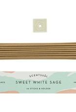Nippon Kodo Incense Sticks + Holder - Assorted White Sage