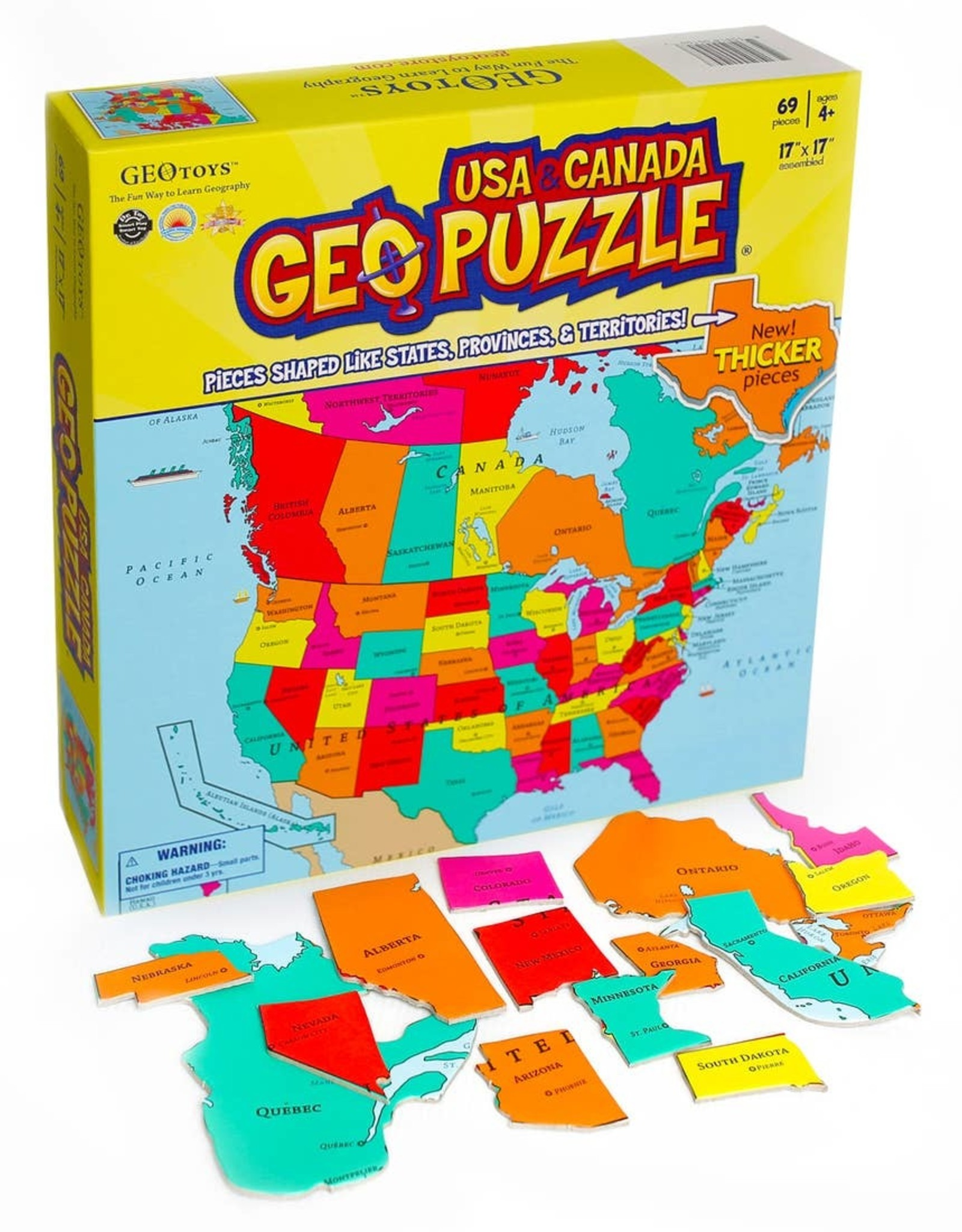 Geotoys Geotoys | GeoPuzzle USA and Canada