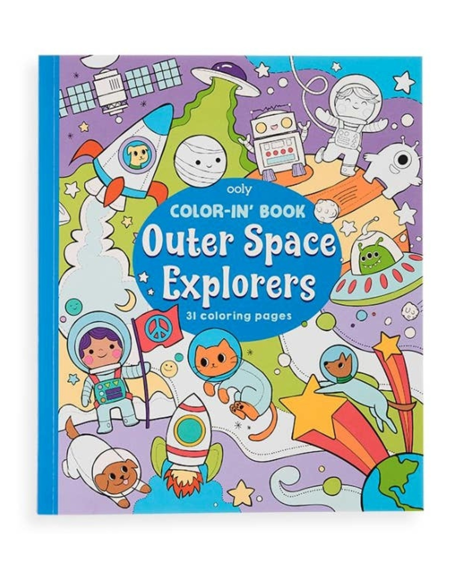 Ooly Ooly | Color-in' Book: Outer Space Explorers