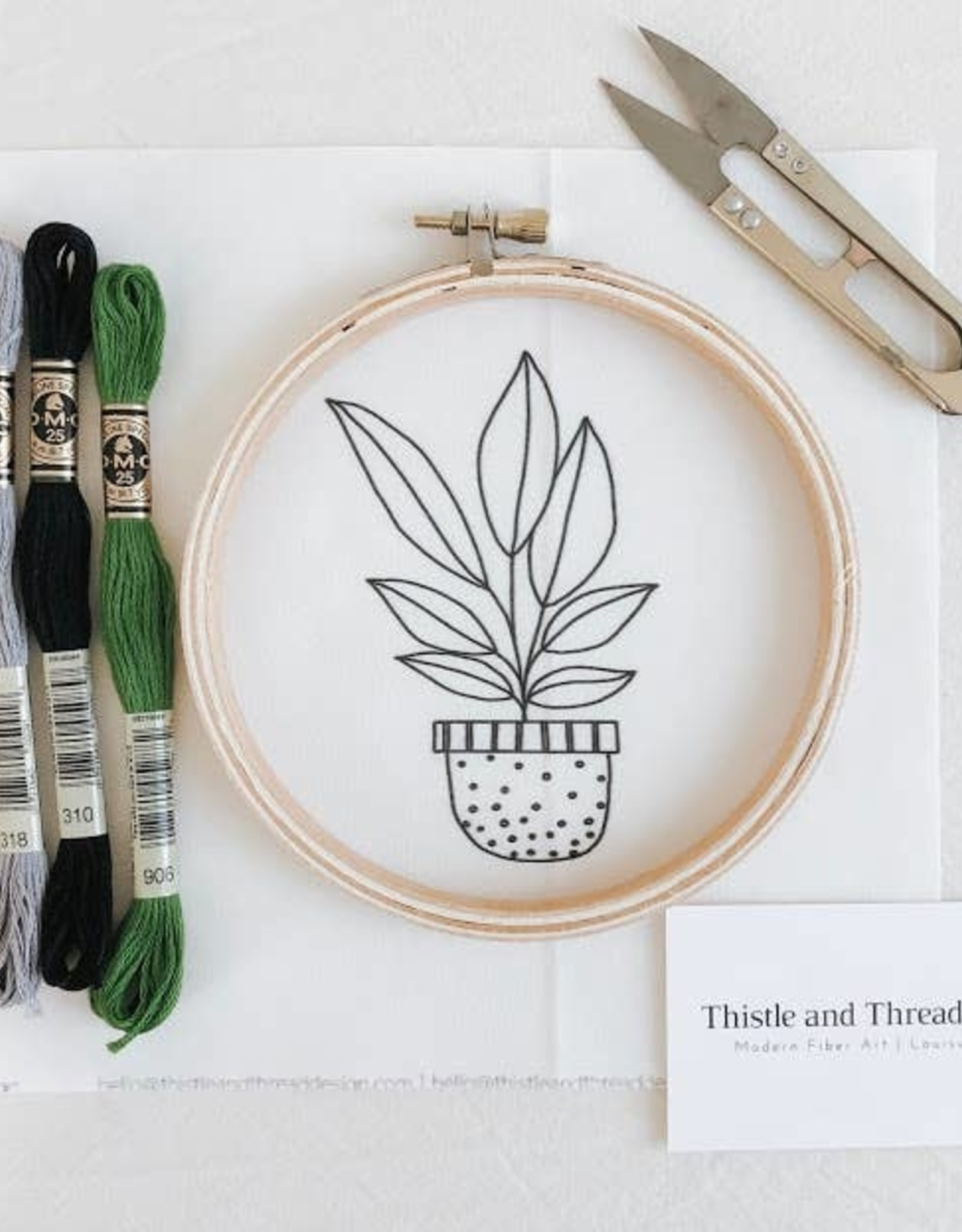 Thistle & Thread Thistle & Thread | Spotted Planter Embroidery Kit