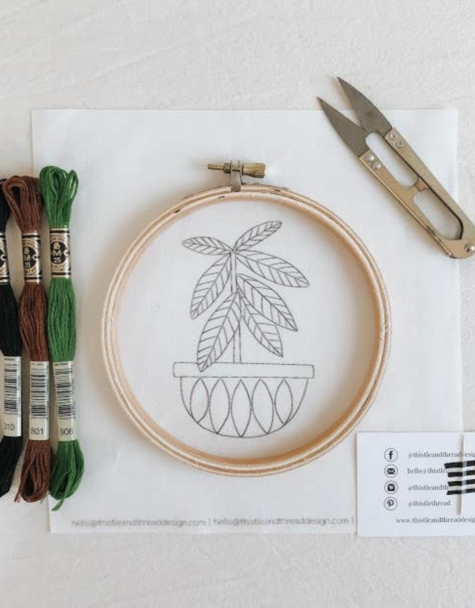 Thistle & Thread Thistle & Thread | Rubber Tree Embroidery Kit
