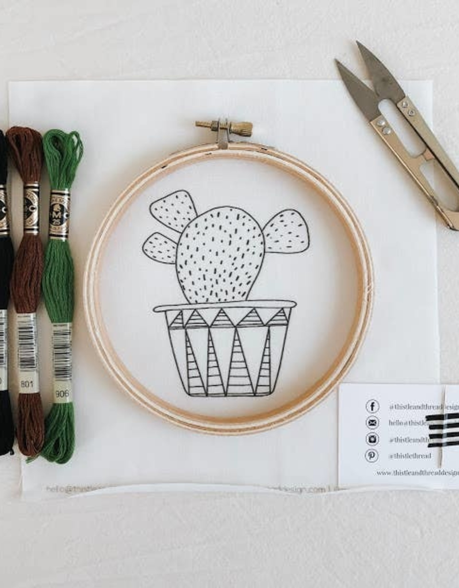 Thistle & Thread Thistle & Thread | Short Cactus Embroidery Kit