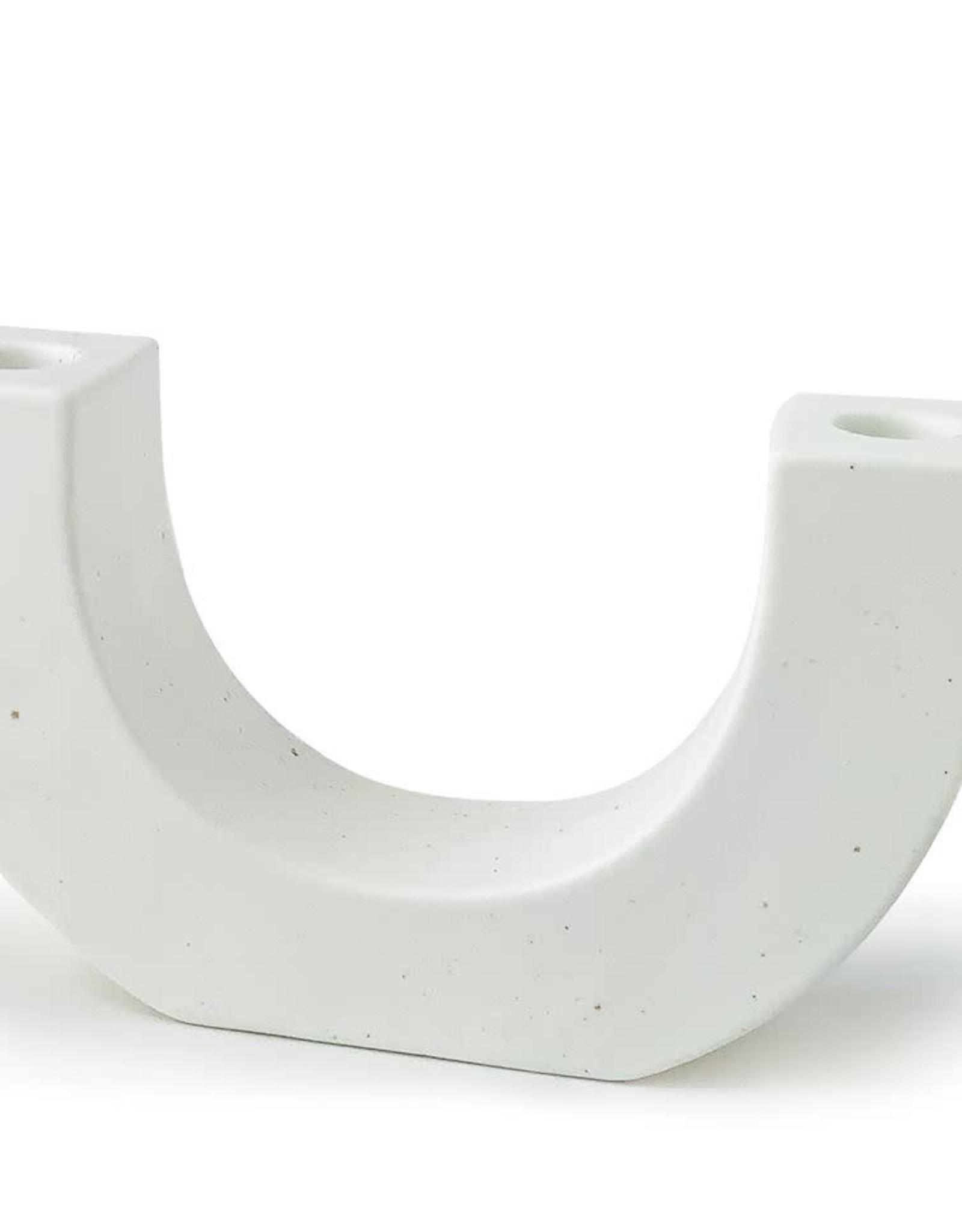 Paddywax U-Shaped Ceramic Taper Candle Holder