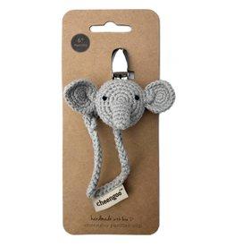 Cheengoo Elephant Pacifier Clip
