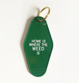 Black Lab Studios Home Is Where The Weed Is Keychain