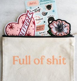 Stay Home Club Stay Home Club |Full of Shit Canvas Pouch
