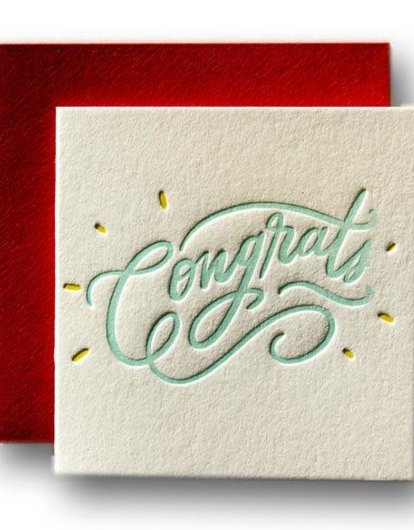 Ladyfingers Letterpress Ladyfingers Letterpress   Congrats Tiny Card