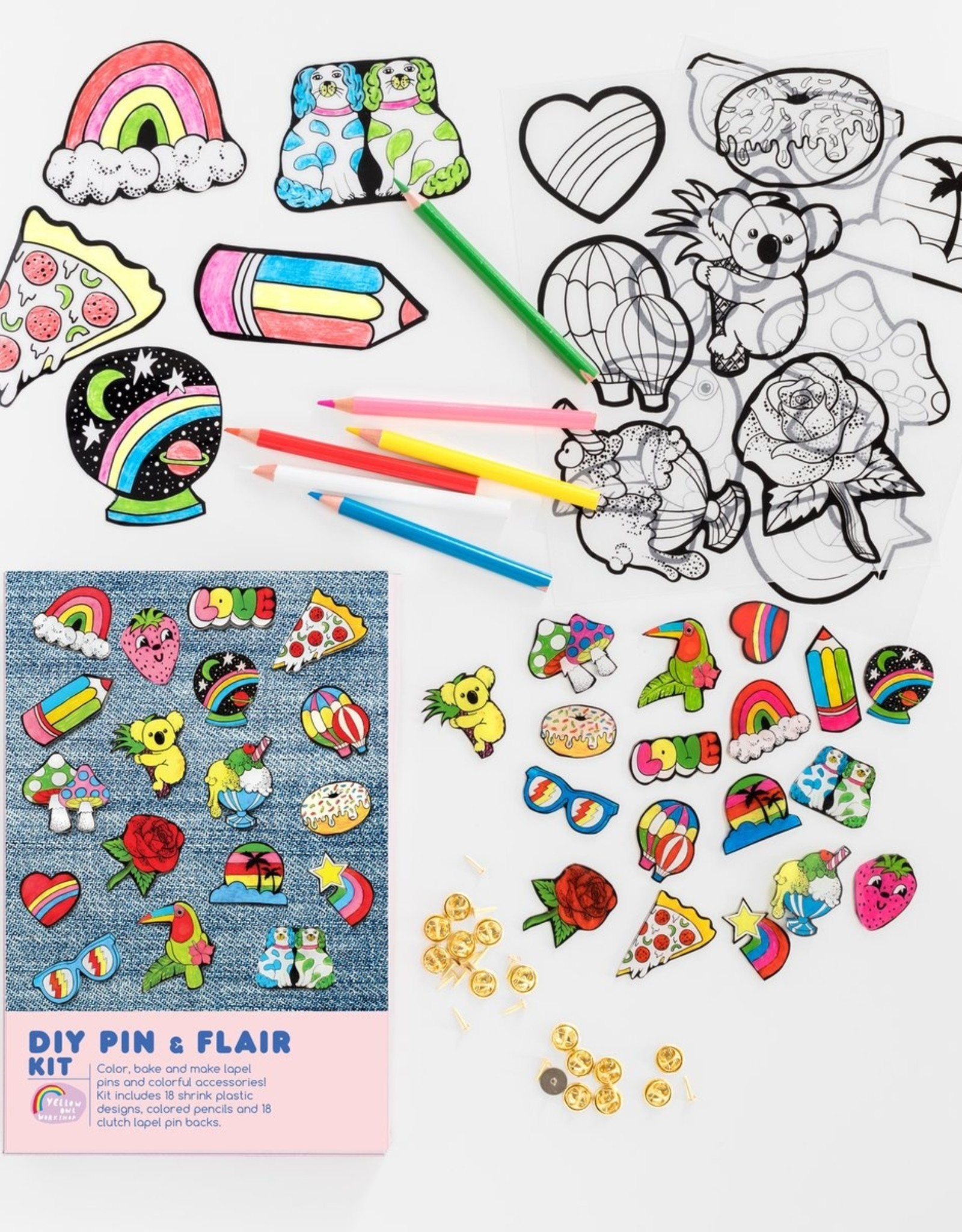 Yellow Owl Workshop Yellow Owl Workshop | DIY Pin & Flair Kit