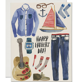 Red Cap Red Cap   Father's Things Father's Day Card