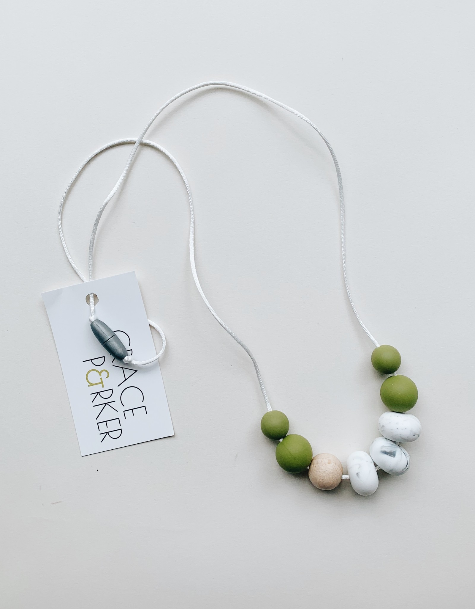 Grace & Parker Grace & Parker   Zuri Olive Teething Necklace