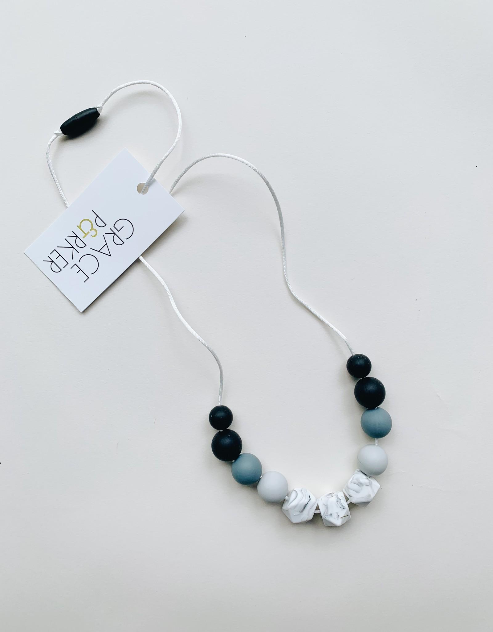 Grace & Parker Grace & Parker   Marble Gray Ombre Teething Necklace