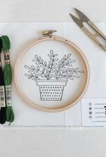 Thistle & Thread Thistle & Thread   ZZ Plant Embroidery Kit