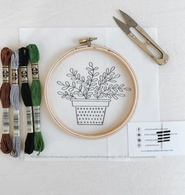 Thistle & Thread Thistle & Thread | ZZ Plant Embroidery Kit