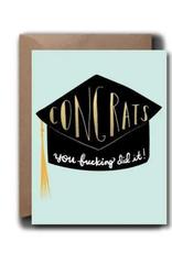 Black Lab Studios Black Lab Studio | Congrats Cap Grad Greeting Card
