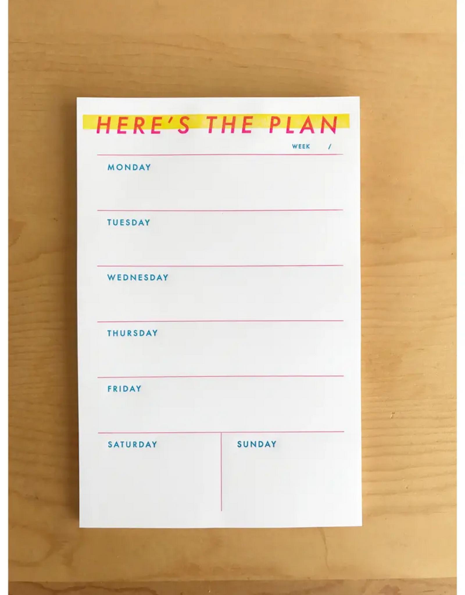M.C. Pressure M.C. Pressure | Here Is The Plan Weekly Notepad