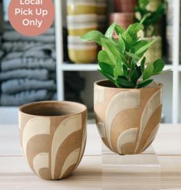 "Creative Co-Op 6"" Handpainted Terracotta Planter"