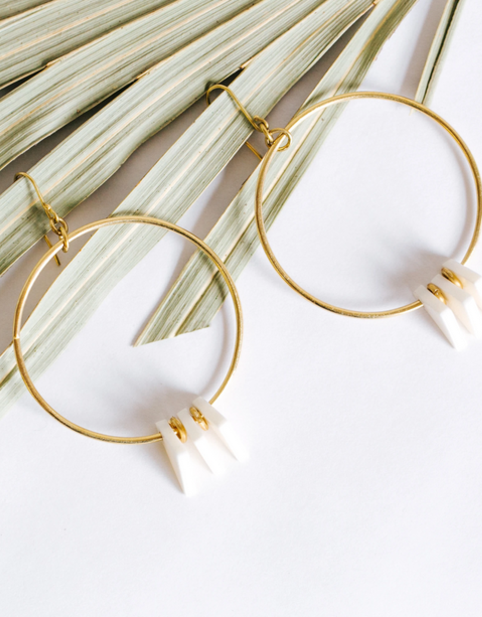 Amsha Amsha | Triangle Hoop Earrings