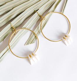 Amsha Triangle Hoop Earrings