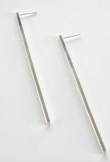 Metrix Jewelry Metrix   Linear Bar Earrings - Sterling Silver Bars
