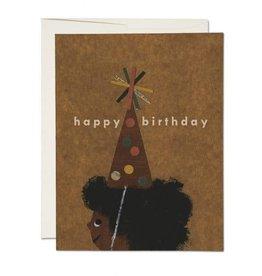 Red Cap Afro Birthday