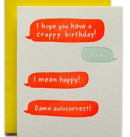 Ladyfingers Letterpress Crappy Birthday Card