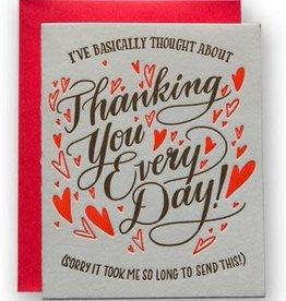 Ladyfingers Letterpress Belated Thank You Card