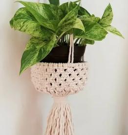 "Terra + Twine Terra & Twine| 4"" Hanging Basket"
