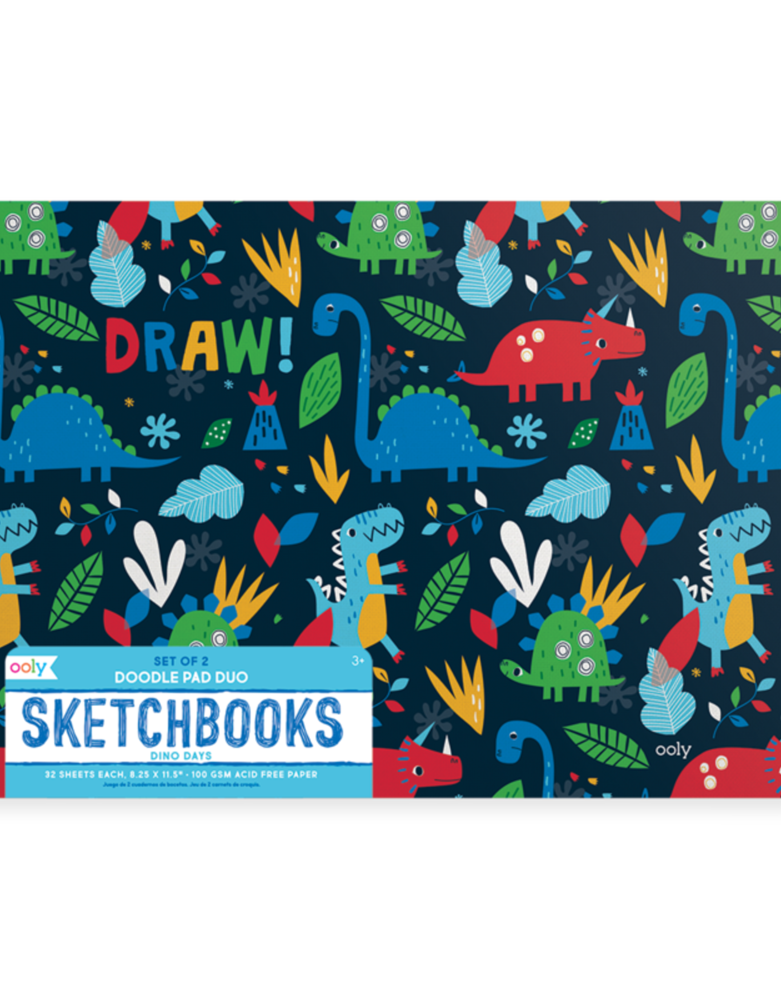 Ooly Ooly | Dino Days Sketchbooks - Set of 2