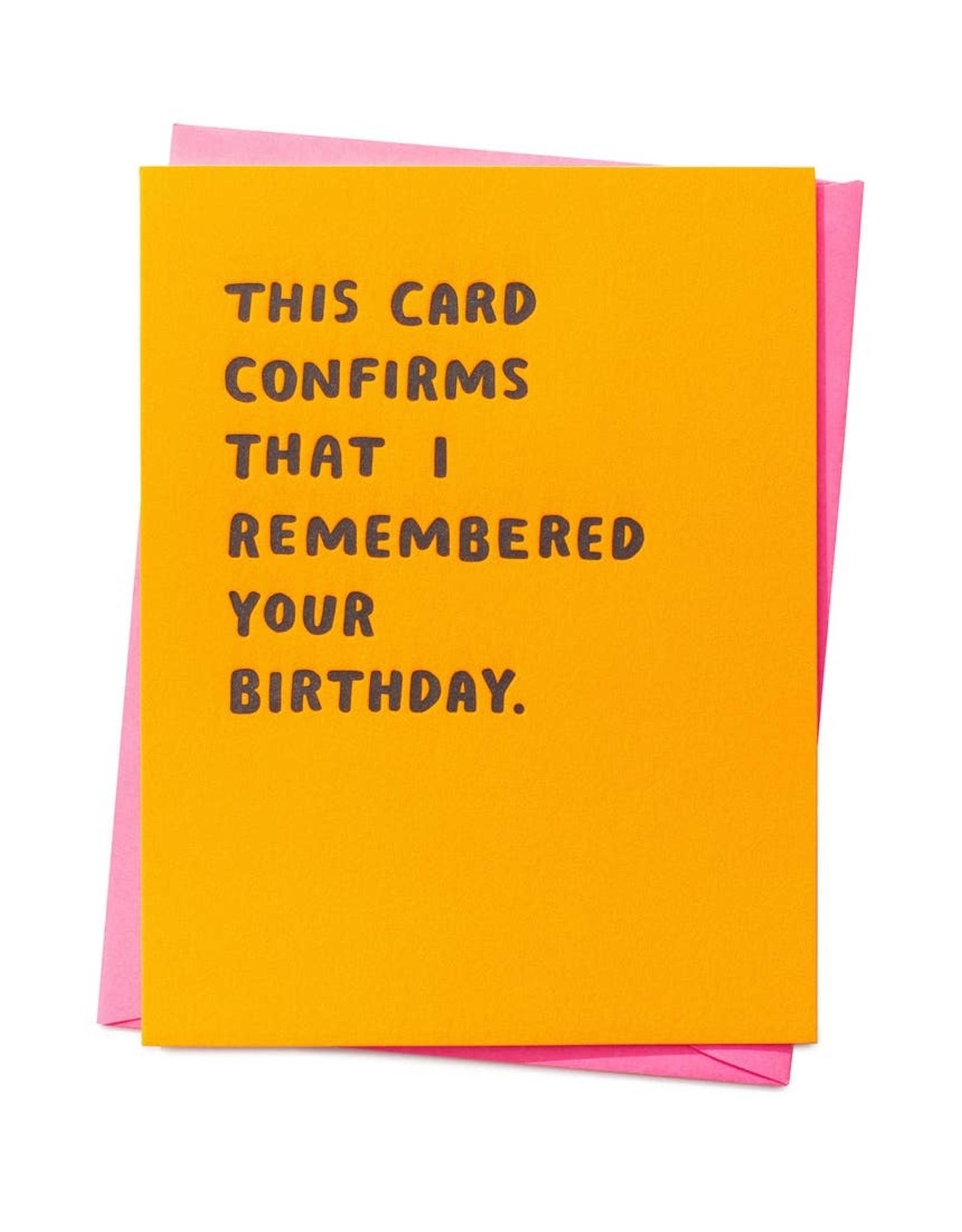 Ashkahn Ashkahn | Confirmed Birthday Card