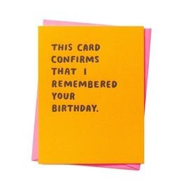 Ashkahn Ashkahn | Confirmed Birthday Card