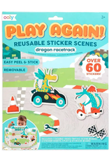 Ooly Ooly | Play Again! Reusable Sticker Scenes: Dragon Racetrack
