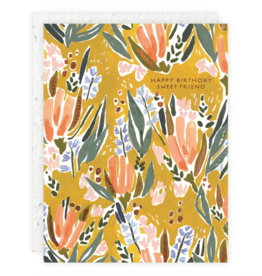 Seedlings Seedlings | Pink And Blue On Gold Seedlings Card