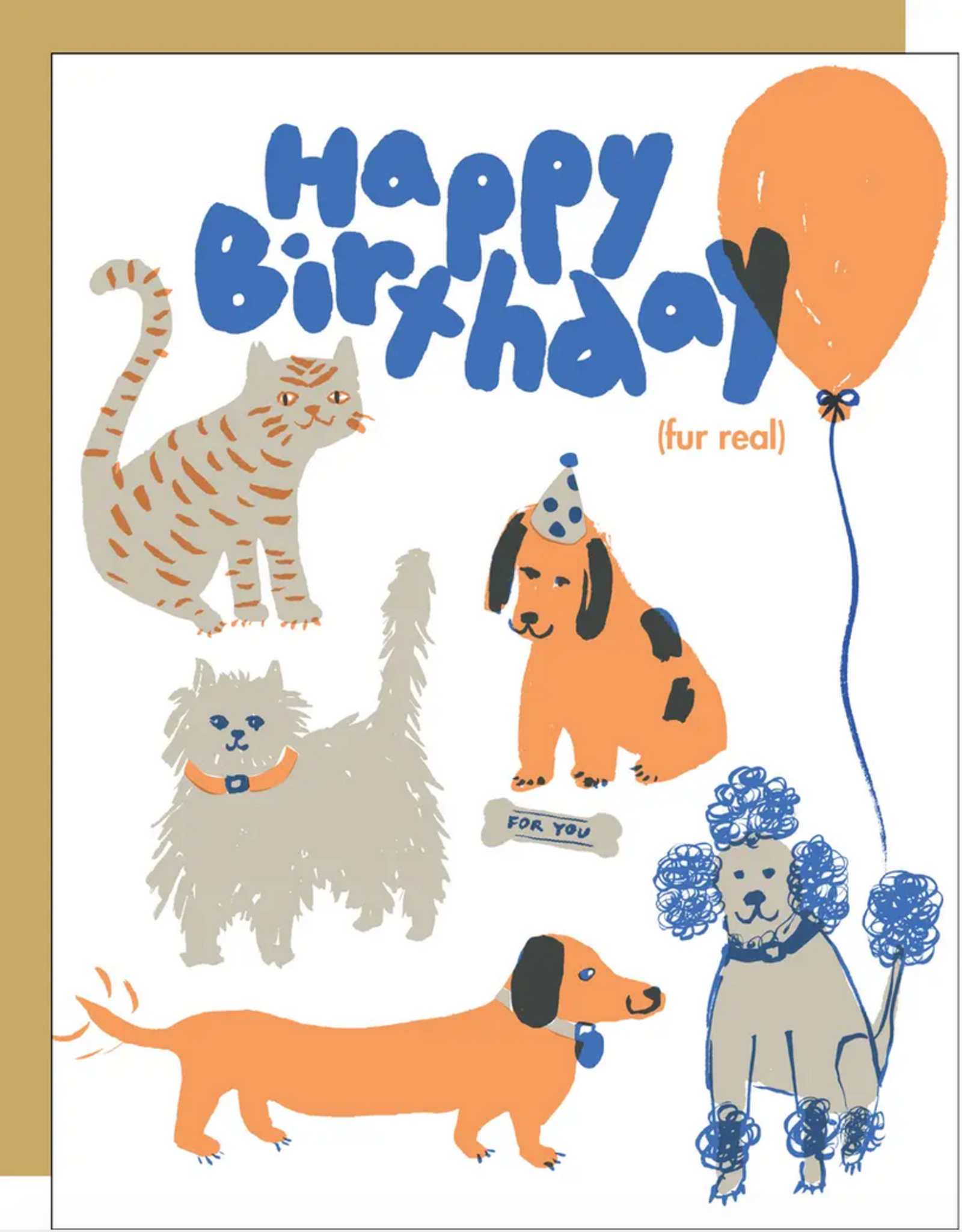 Egg Press Egg Press | Happy Birthday Fur Real Card